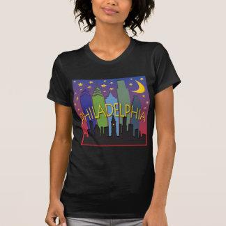 T-shirt Vie nocturne d'horizon de Philadelphie