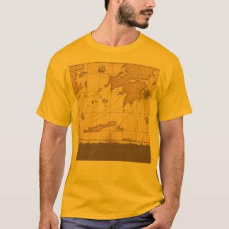 T-shirt Vieille carte du monde chic