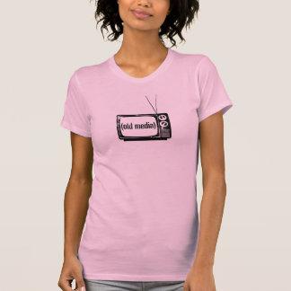 T-shirt Vieux réservoir de médias rose