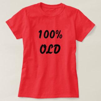 T-shirt vieux rouge-foncé de 100%