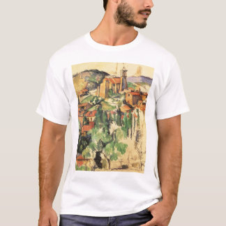 T-shirt Village de Gardanne par Paul Cezanne, art vintage