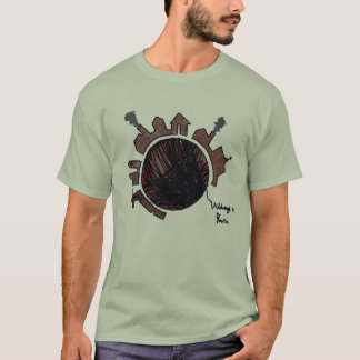 T-shirt Village sur le fil 1 avec des têtes