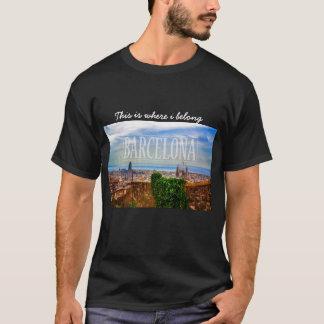 T-shirt Ville de Barcelone