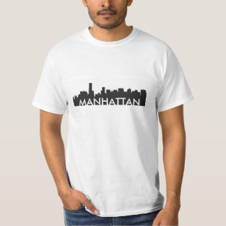 T-shirt ville de l'Amérique de silhouette d'horizon de