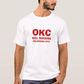 T-shirt Ville d'Oklahoma * chemise d'aéroport