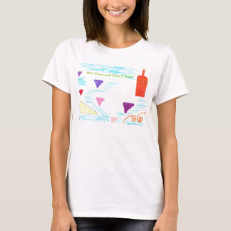 T-shirt Vin divin avec du fromage et des raisins