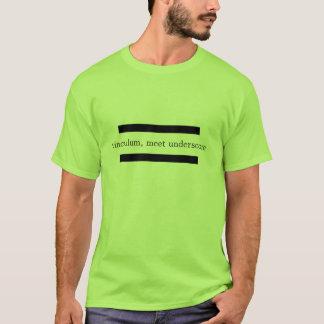 T-shirt vinculum, soulignage de rassemblement
