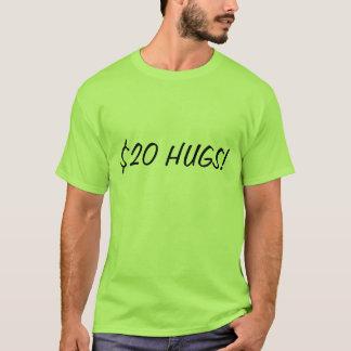 T-shirt Vingt étreintes du dollar par Zombeh