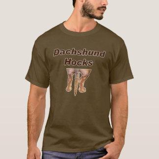 T-shirt Vins du Rhin de teckel sans chaussettes