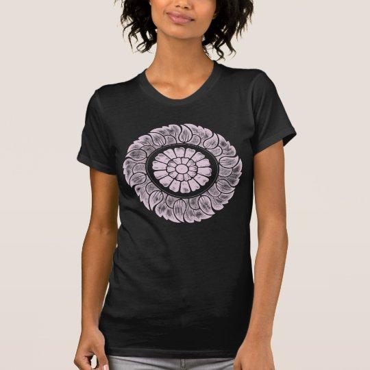 T-shirt Vintage Chinese Flower Design