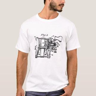 T-shirt vintage d'art de bobine de pêche