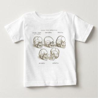 T-shirt vintage de bébé de crânes