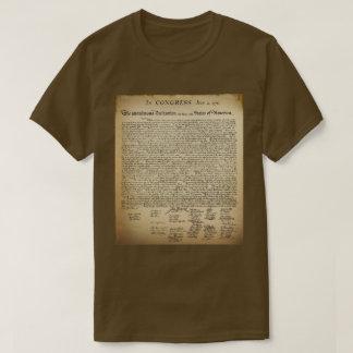 T-shirt vintage de déclaration d'indépendance