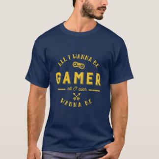 T-shirt vintage de logo de Gamers pour le jeu