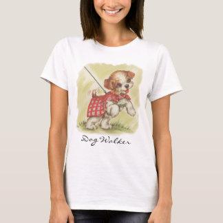 T-shirt vintage de marcheur de chien