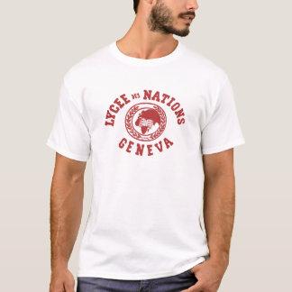 T-shirt vintage de nations de DES de Lycée (BLANC)