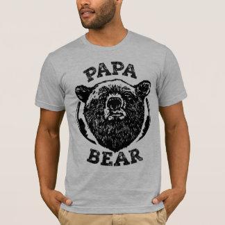 T-shirt vintage de papa d'ours noir de style