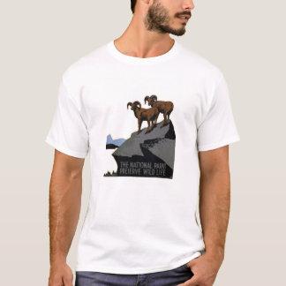T-shirt vintage de parcs nationaux de WPA : RAM