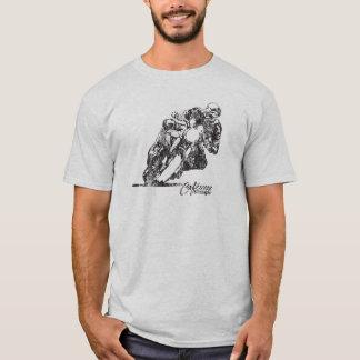 T-shirt vintage de style de maigre de moyen de