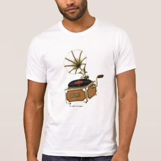 T-shirt vintage frais de musique de phonographe