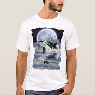 T-shirt Violation de l'orque avec Raven et la lune