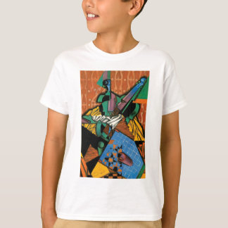 T-shirt Violon et damier