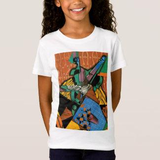 T-Shirt Violon et damier par Juan Gris