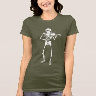 T-shirt Violon jouant le squelette
