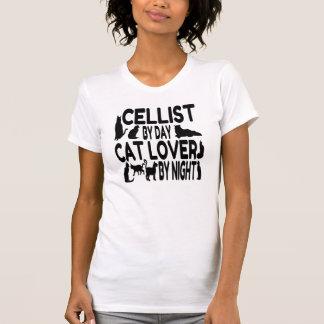 T-shirt Violoncelliste d'amoureux des chats