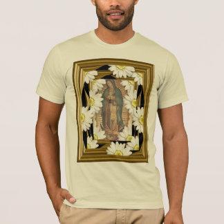 T-shirt Virgen De Guadalupe (avec des marguerites)