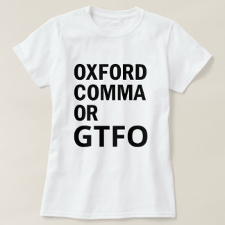 T-shirt Virgule d'Oxford ou GTFO