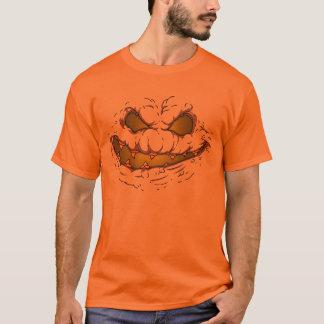 T-shirt Visage de fluage - jaune