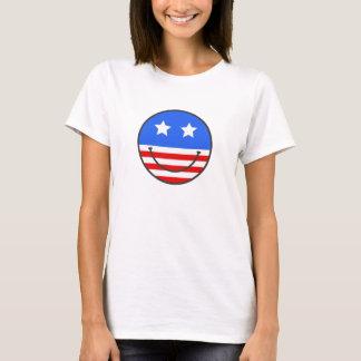 T-shirt Visage de smiley des Etats-Unis