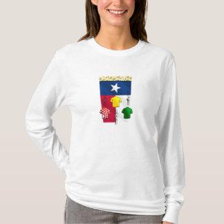 T-shirt Vitesse de recyclage de drapeau de