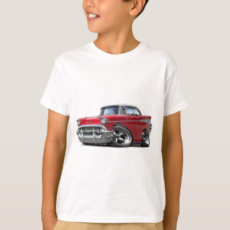 T-shirt Voiture 1957 Rouge-Blanche de Chevy Belair