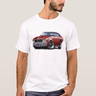 T-shirt Voiture 1970-72 de dessus de noir de rouge foncé