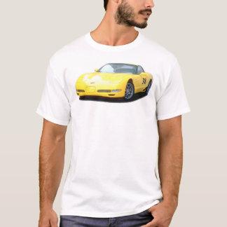 T-shirt Voiture de course jaune de Corvette Z06