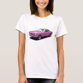 T-shirt Voiture de poney classique rose des années 1960