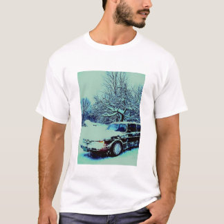 T-shirt voiture neigeuse