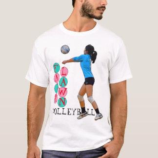 T-shirt Volleyball juste de pelouse