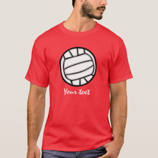 T-shirt Volleyball ; Rouge