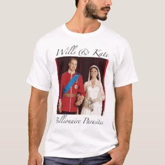 T-shirt Volontés royales et Kate de mariage