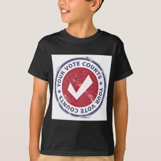 T-shirt vos comptes de vote