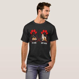 T-shirt Votre chien que mon lévrier afghan de chien laisse