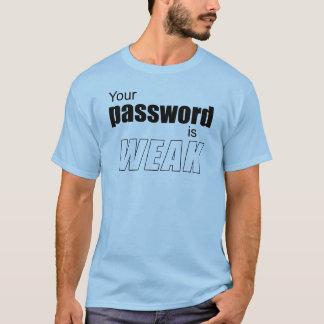 T-shirt Votre mot de passe est FAIBLE
