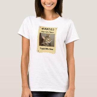 T-shirt voulu de l'affiche de l'amoureux des chats