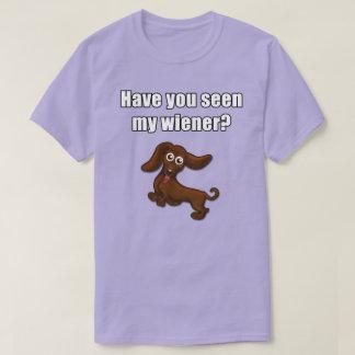 T-shirt Vous avez vus ma saucisse, teckel drôle
