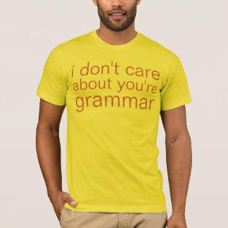 T-shirt vous êtes grammaire