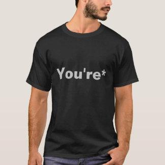 T-shirt Vous nazi de grammaire d'are*