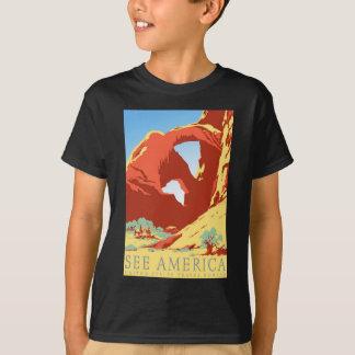 T-shirt Voyage vintage national du Colorado Co de parc de